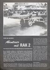 Opel RAK 2 Sonderdruck Opel-Post 6/78