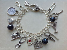 Grey's Anatomy Charm Bracelet, Medical Charm Bracelet, Doctors - Nurse Gift ,