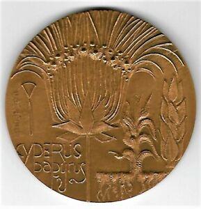 France - Médaille Cyperus Papyrus Monnaie de Paris Bronze 1982