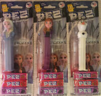 2019 New Disney FROZEN II (2) Movie Candy Pez Dispenser Lot- Anna, Elsa + Olaf