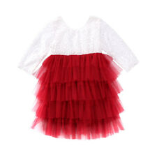 Kid Baby Girl Dress Party Pageant Formal Dresses Tulle Tutu Laces Backless Dress