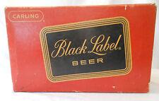 Carling Black label beer case 24 empty brown bottles bottle vintage prop decor