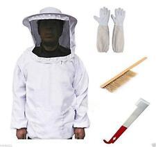 Beekeeping Suit Bee Honey Keeping Equipment Gloves Hive Brush Hook Veil Set WT