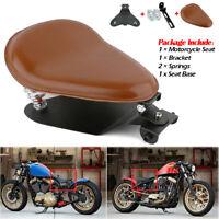 Solo Motorrad Sitz Schwingsattel Braun mit Sitzfeder +Grundplatte Halterung