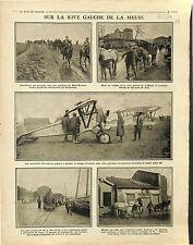 Rive Gauche la Meuse Mort-Homme Avions SPAD Bataille d'Avocourt Bois  1916 WWI