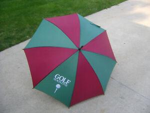 Golf Umbrella~40 inch~Green/Maroon~NOS~
