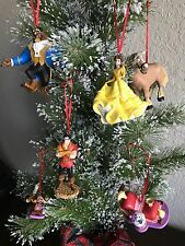 Disney The Beauty And The Beast Christmas Holiday Custom Ornament Set 6pc
