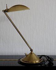 Lampe de bureau articulée en laiton, ampoule halogène – Très bon état