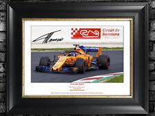 Fernando Alonso F1 McLaren Autograph Signed (Personalized) + A.Senna.