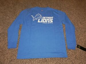 DETROIT LIONS CRITICAL VICTORY TEE MEN'S LARGE MAJESTIC TEAM APPAREL BRAND NEW!