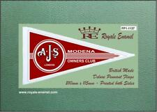 Royale Scooter Antenna Pennant Flag AJS MODENA OWNERS CLUB Mod Red FP1.1137