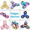 Tri Fidget Hand Spinner Triangle Brass Metal Rainbow Finger Toy EDC Focus ADHD