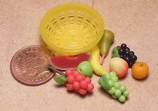 SCALA 1:12 giallo in plastica ciotola di frutta fatto a mano Casa delle Bambole Accessorio alimentare