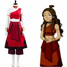 Avatar: the last Airbender Katara Cosplay Costume Halloween Women Dress