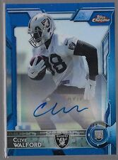 2015 Topps Chrome Mini Blue Refractor Clive Walford Auto Rc # /35