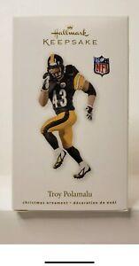 2010 Hallmark Troy Polamalu Ornament Football Pittsburgh Steelers Black Jersey