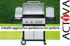 BARBECUE A GAS INOX SUNDAY GRILL MONTANA FUOCHI 4 + KIT GAS + CON FORNELLO