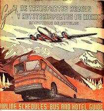 Guia de Transportes Aereos y Autotransportes de Mexico July 1959 Hotels Bus Bklt