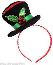 Sombreros, gorros y cascos color principal negro para disfraces y ropa de época, Navidad