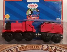 THOMAS & FRIENDS WOODEN RAILWAY ~ JAMES ~ RARE 2001 NO LINES RED DOME EDITION!
