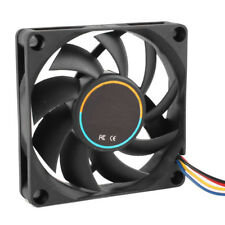 70mmx15mm 12V 4 Pins PWM PC Computer Case CPU Cooler Cooling Fan Black T9E6 Y4S7