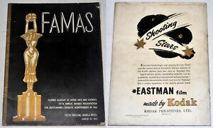 1957 Philippines FILIPINO ACADEMY OF MOVIE ARTS & SCIENCE (FAMAS) Program