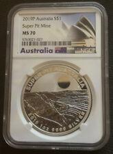 2019-P 1 oz .9999 Actual Pit Silver Australia Perth Mint Super Pit mine NGC MS70