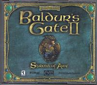Baldur's Gate II Shadows Of Amn Windows Computer PC Game CD-Rom Near Mint