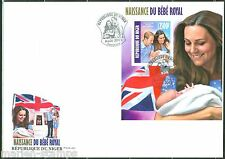 NIGER 2013  BIRTH OF PRINCE GEORGE WITH PRINCE WILLIAM ,KATE  S/S FDC