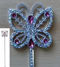Baguette de fée, papillon, princesse, IRIS PAILLETTES avec pierres bijoux, 40 cm