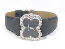 Pierre Cardin Mujer Pétalos Reloj De Pulsera Cristal PC104342F01 Cuero Negro