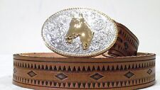 REDUCED! New Tooled Leather South Western Belt  Motif Any Size 24-48