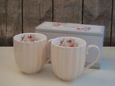 Easy Life - 2er Set Kaffee Becher / Tassen - Jardin Royal - Blumen - beige