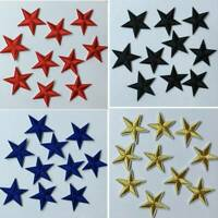 10X Star Applique Clothing Embroidery Patch Iron On Sew Cloth DIY Fabric Sticker