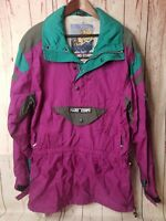 Men's Vintage 90s Hard Corps Hooded Ski Jacket Sz M Multi-Color