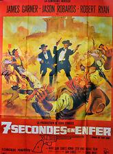 Affiche 120x160cm 7 SECONDES EN ENFER /HOUR OF THE GUN 1967 James Garner