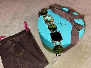 NWT Kate Spade New York Large Crystal Kaleidoscope Link Bracelet Chain Gift Box