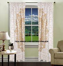 2 PC Mandala Ombre Vorhänge Baumwolle Indischen Fenster Tür Hängenden Valenzen