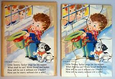 Kiddie Puzzle - 16 piece Litho on Board Little Tommy Tucker Puzzle Ruth Newton