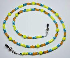 dfc6ecb2b717 Sunshine   Turquoise Sea Austrian Crystal   Pearl Bead Mix Eyeglass Chain