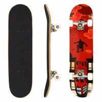 "31"" Pro Complete Skateboard, Adult Tricks Skate Board 9 Layer Canadian Maple"