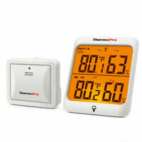 ThermoPro Digital Wireless Indoor Outdoor Thermometer Hygrometer Humidity Meter