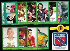 1973-74 OPC O PEE CHEE NHL HOCKEY CARD LIGHT WHITE BEIGE BACK 133-264 SEE LIST