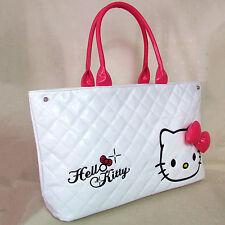 HelloKitty Zipper  Handbag Tote Shoulder Bag 2018  New Pu  Bow White  Big Size