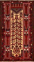 Tribal Geometric Balouch Afghan Oriental Area Rug WOOL Hand-Knotted Carpet 3'x6'