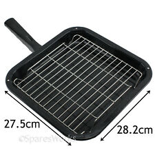 Petit carré poêle grill émaillée plateau rack et poignée pour Logik four, cuisinière