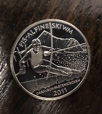 Germany 2011 FIS -Alpine Ski WM Garmisch-Partenkirchen 10 Euro Proof Silver Coin