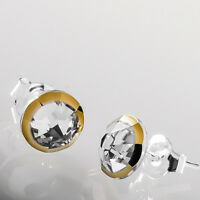 925 Sterling Silver Stud Earrings Xirius Rimmed Clear Crystals from Swarovski®