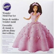 Wilton Wonder Mold Doll Cake Tin Kit, Aluminium, Non-Stick, 8x5 in, Baking Pan