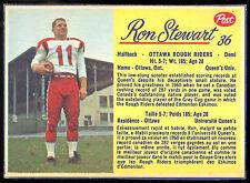 1963 POST FOOTBALL CFL #36 RON STEWART NM OTTAWA ROUGH RIDERS QUEENS UNIV